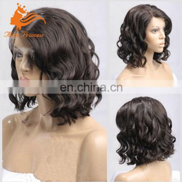 Alice Princess New Lace Wig Glueless Short Woman Human Hair Wigs Virgin Peruvian Hair Deep Wave Hair With Good Netting For Wigs