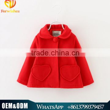 Brand Children's Garment Korean Girl Pure Cotton Wool Coats Baby Girl Autumn & Winter Outwear