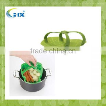 MA-986 2013 Best Selling FDA Approved Collapsible Silicone Steamer