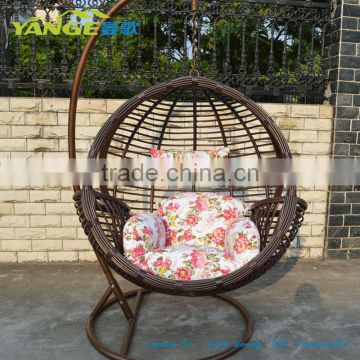 Rattan Hanging Chair Swing Egg Chair Round Swing Chair With Stand ...