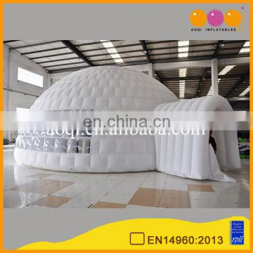 movable white circular large inflatable trade show tent for sale