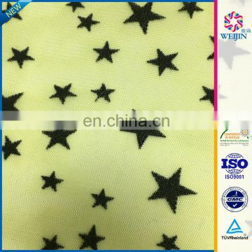 wholesale star flocked Mesh Upholstery Fabric Germany
