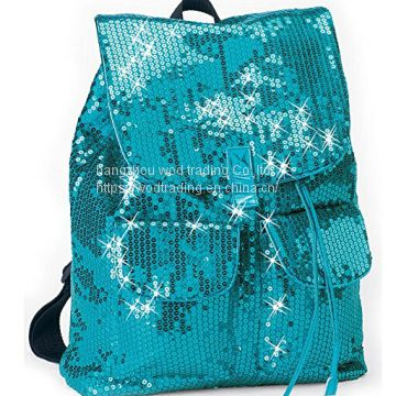 sequin fabric backpack for kids from China factory