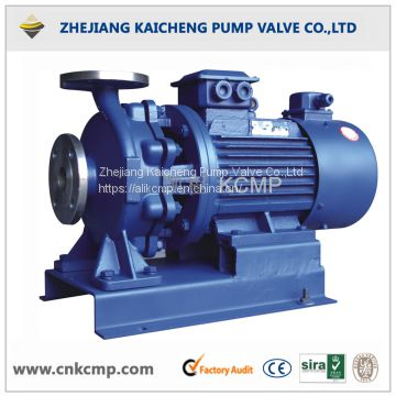 Horizontal pipeline clean water pump