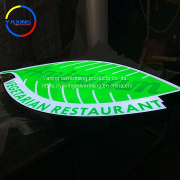 high brightness backlit stainless steel led logo sign light up letter acrylic led sign led house store led light sign