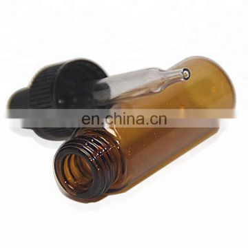 4ml amber   glass tube perfume bottle with plastic dropper corks
