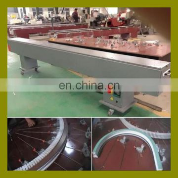 Electric air heating type China UPVC window fabrication machine for bending arc window door