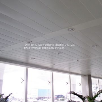 Arc Aluminum Buckle Ceiling Exhibition Hall Oak Grain