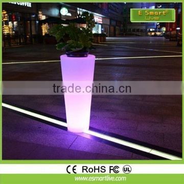 75cm flower vase .round led plant pot for home or garden decoration.energy saving and flash outdoor led pot light
