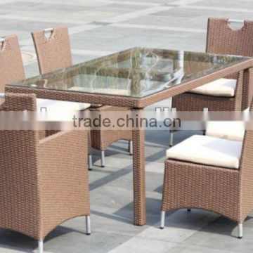 Outdoor fashionable Rattan Dining Sofa Sets
