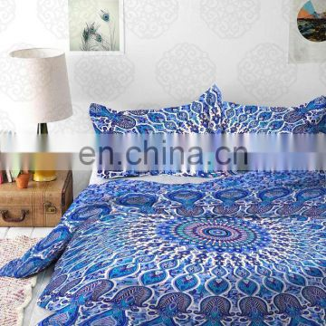 Indian Mandala Decor Duvet Cover Bedding Handmade Queen Size Donna Cover With Pillow Cover