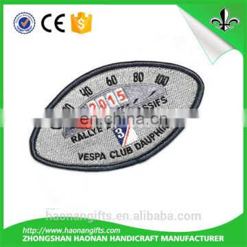 Custom design embroidery fabric name badges for clothing