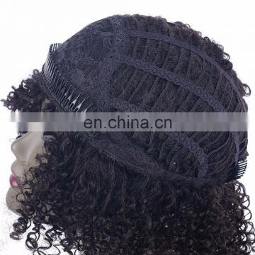 cheap synthetic afro kinky curl machine hair wig