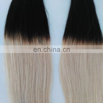 Wholesale Indian hair colored two tone hair weave