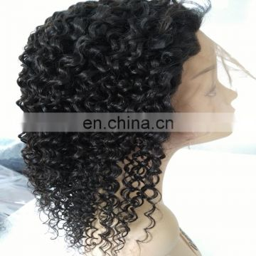 Chinese factory wholesale full lace human hair wigs with cheap natural color brazilian hair wig for black woman