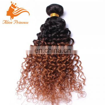 Remy Ombre Two Tone Kinky Curly Hair Extensions Cheap Mongolian Bundles Remy Human Hair From China Suppliers