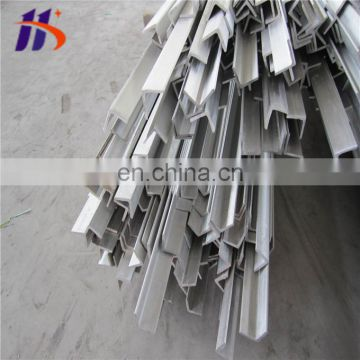 Brushed 400Grit ss 201 304 Stainless steel angle bar
