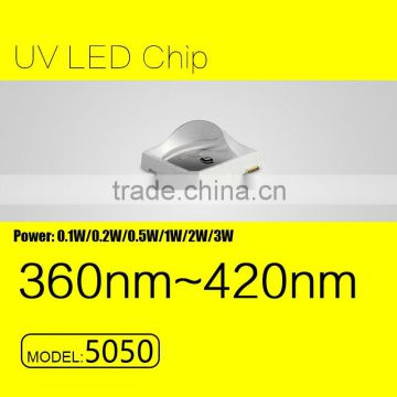 UVLED 5050 smd 1w uv led 365nm with CE rohs LOW price