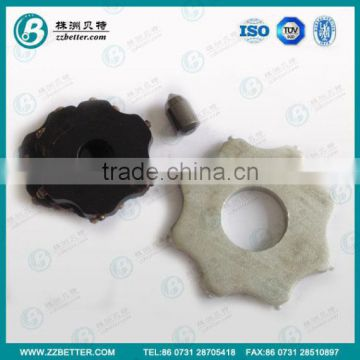 tungsten carbide tipped cutter blade used in floor preparation