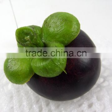 artificial plastic mangosteen for decoration fake fruit