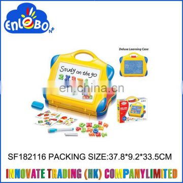 2 in 1 Children writing board with magnetic blocks and numbers SF182116