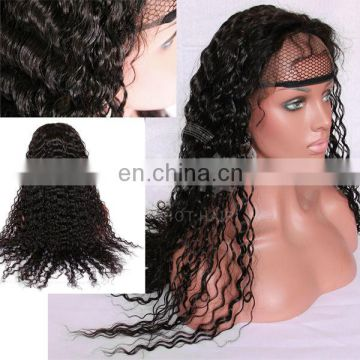 high quality swiss lace hot hair sale remy kinky curly beauty virgin brazilian human hair full lace wig for black women