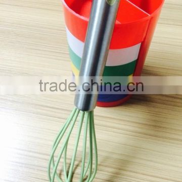 Kitchen is not easy deformation manual silicone whisk