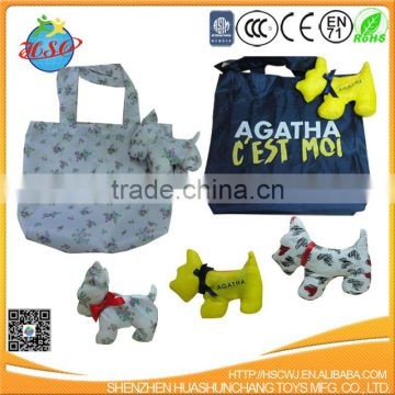 Cheap Fashion Reuseable Plush Toy Cloth Shopping Bag