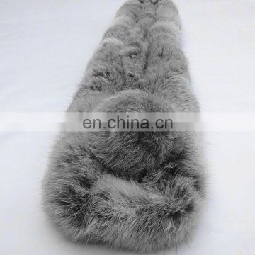 Dyed color rex rabbit fur scarf fashion women winter fur scarf for lady