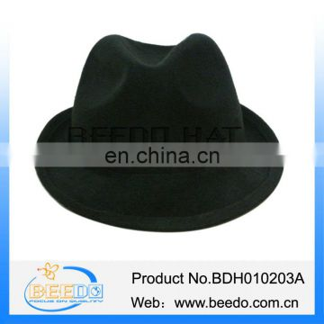 4c4ab38b5927b Wholesale alibaba black mens gangster hat of Fashion Faux Wool Felt Hat  from China Suppliers - 158254938