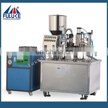 FLK high quality lid capping machine,bottle manual filling capping and labeling machine