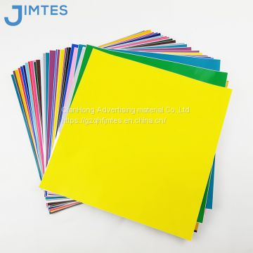 Glossy outdoor advertisement pvc self adhesive vinyl sheets color sticker sheets