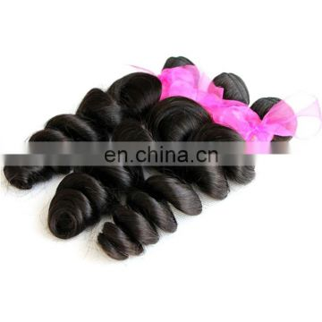 Natural quality virgin brazilian loose wave hair
