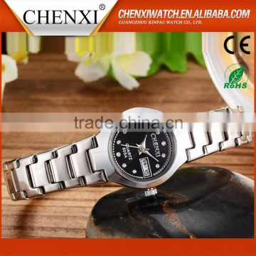 New Year Gift CE RoHS Day/Date Couple Lover Wrist Watch Water Resistant Wholesale Wrist Watch Couple