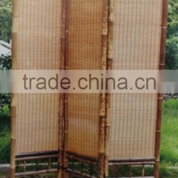 FD 16527 Bamboo Folding Screen Room Divider soundproof room divider