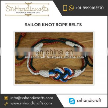 Newly Introduced 100% Cotton Based Braided Rope Belt from Top Dealers