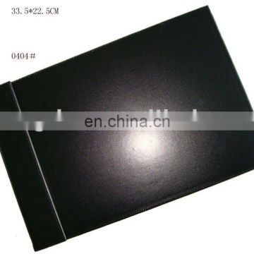 Hot Selling High Quality Custom Black Leather Writing Pad PU Notepad