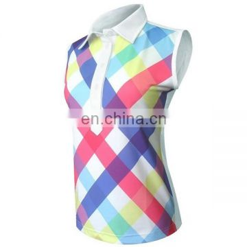 Custom sublimation printing ladies golf clothing