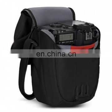 Black small camera carry bags with flap