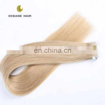 Human remy hair 2.5g 40pcs 22inch human ombre invisible remy tape hair extension