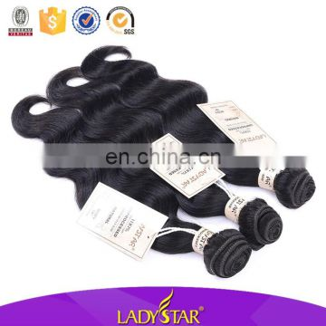 Brazilian Human Hair Weave Ladystar Brand Body Wave Hair Extension
