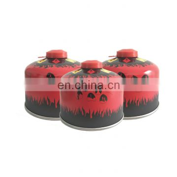 China screw valve butane gas cartridge 230g and volume LPG gas cylinder