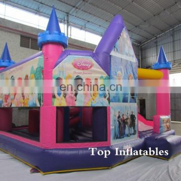 Inflatable princess castle combo jumping inflatable princess jumper combo for kids