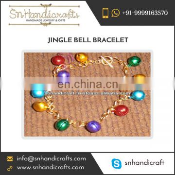 Custom Made Jingle Bell Bracelet of Latest Fashion for Christmas