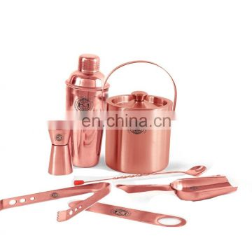 Amason Popular 4 Pcs Copper Plated Bar Set With shaker Cocktail Set