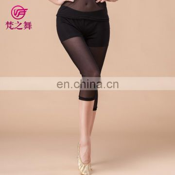 Fashion top quality water yarn cropped dance trousers pant for women K-4038