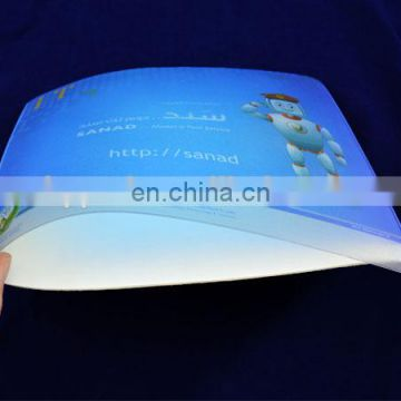 Custom printed heat sealed photo insert PVC mouse pad high quality