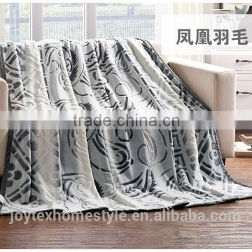 100% polyester Spain carved design Gradient color Luxury with back printing 150D/288F fleece blanket/throw