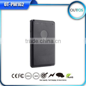 Business giveaways slim portable cell charger 4000mah with real capacity
