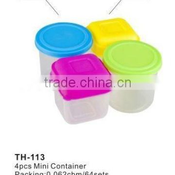 mini plastic containers